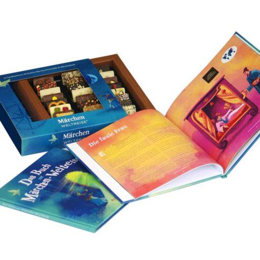 Märchenbuch und Schokolade